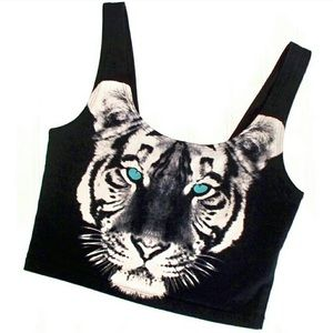 UO Out From Under Tiger Crop Top